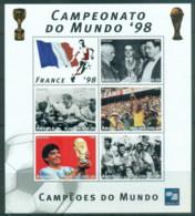 Angola 1997 World Cup Soccer, France MS MUH - Angola