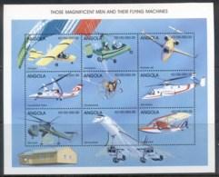 Angola 1998 Airplanes Sheetlet MUH - Angola
