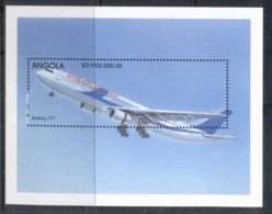 Angola 1998 Airplanes, Boeing MS MUH - Angola
