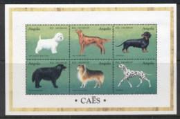 Angola 1998 Dogs Sheetlet MUH - Angola