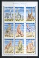 Angola 1998 Prehistoric Animals, Dinosaurs Sheetlet MUH - Angola