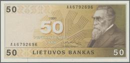 Lithuania / Litauen: 50 Litu 1991 P. 49 In Condition: UNC. - Lithuania