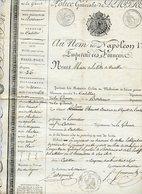 CADILLAC GIRONDE. SOUS NAPOLEON 1er. LAISSEZ-PASSER DU MAIRE POUR UN CONSCRIT 1807 - Old Paper