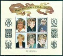 Angola 1998 Princess Diana In Memoriam, Lady Diana, Princess Of Wales MS MUH - Angola