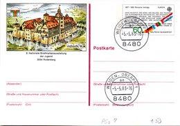 """BRD Amtliche GZS-Sonderpostkarte PSo 7 """"NAJUBRIA'83 In Rodenberg"""" WSt """"Europamarke 1982"""" 60(Pf),TSt 5.5.1983 WEIDEN - BRD"""