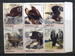 Angola 2000 Birds Of Prey Blk6 (rebel Issue) CTO - Angola