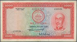 Portuguese Guinea  / Portugiesisch Guinea: 1000 Escudos 1964 P. 43, Banco Nactional Ultramarino, Sel - Guinea