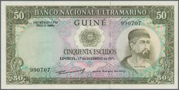 Portuguese Guinea  / Portugiesisch Guinea: Set Of 2 Notes Containing 50 & 100 Escudos 1971 P. 44, 45 - Guinea