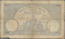 Romania / Rumänien: Banca Naţională A României 20 Lei 1908, P.16, Larger Tears, Margin Splits And St - Romania