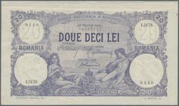 Romania / Rumänien: 20 Lei 1920 P. 20, Light Folds In Paper, Crisp Paper Without Holes Or Tears, Con - Romania