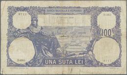Romania / Rumänien: Banca Naţională A României Set With 3 Banknotes 100 Lei 1921, 1922 And 1926, P.2 - Romania