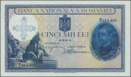 Romania / Rumänien: Banca Naţională A României 5000 Lei With New Date Overprint September 6th 1940, - Romania