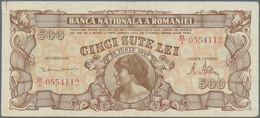 Romania / Rumänien: Banca Naţională A României 500 Lei 1947, P.63, Seldom Offered Note With Small Te - Romania