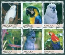 Angola 2000 Birds, Parrots (Rebel Issue) CTO - Angola