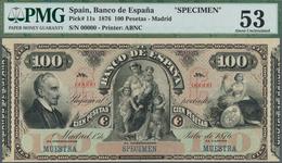 """Spain / Spanien: Banco De España, 100 Pesetas, Madrid, 1st July 1876, """"Lope De Vega"""", Black On Multi - Spain"""