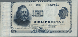 Spain / Spanien: 100 Pesetas 1 Mayo 1900 Front Proof, P.51p. Classic 100 Pesetas Spanish Banknote De - Spain
