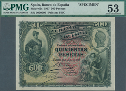 Spain / Spanien: 500 Pesetas 15 July 1907 SPECIMEN 0.000.000, P.65s, Banknote Made By Bradbury Wilki - Spain