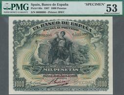 Spain / Spanien: 1000 Pesetas 15 July 1907 SPECIMEN 0.000.000, P.66s, Banknote Made By Bradbury Wilk - Spain
