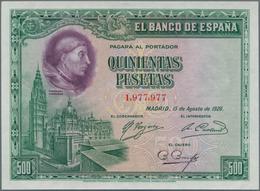 Spain / Spanien: 500 Pesetas 1928, P.77, Excellent Condition With Crisp Paper And Bright Colors, Jus - Spain