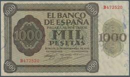 Spain / Spanien: 1000 Pesetas 1936 With Cancellation Perforation P. 103s, Regular Serial Number, Ver - Spain