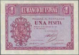 Spain / Spanien: 1 Peseta 1937, P.104 In Perfect UNC Condition - Spain