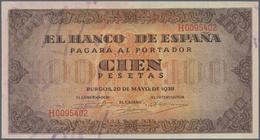 Spain / Spanien: 100 Pesetas 1938 P. 113, Very Light Center Bend, Condition: XF+ To AUNC. - Spain