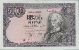 Spain / Spanien: 5000 Pesetas 1976 P. 155, Only A Few Light Dints In Paper, Never Folded, Crisp Orig - Spain
