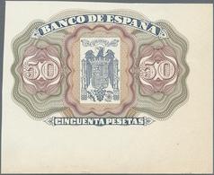 Spain / Spanien: Unlisted Back Essay Print Specimen For A 50 Pesetas Banknote, Similar To The Design - Spain