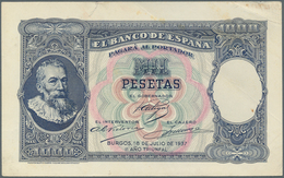 Spain / Spanien: 1000 Pesetas 1937 Specimen Proofs Pick Unlisted, Highly Rare Unissued Design, Print - Spain