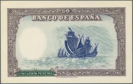 Spain / Spanien: 50 Pesetas 1937 Specimen Proof Pick Unlisted, Highly Rare Unissued Design, Printed - Spain