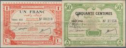 Tunisia / Tunisien: Régence De Tunis - Direction Générale Des Finances 50 Centimes And 1 Franc D. Ma - Tunisia