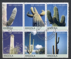 Angola 2000 Cacti Blk6 (rebel Issue) CTO - Angola