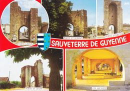 33 SAUVETERRE DE GUYENNE - MULTIVUES / BLASON - France