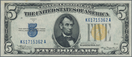 """United States Of America: 5 Dollar 1935A """"North Africa"""" Yellow Seal Issue P. 414AY, In Very Crisp Co - United States Of America"""