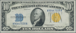 """United States Of America: 10 Dollars 1934A """"North Africa"""" Yellow Seal Issue P. 415AY, In Very Crisp - United States Of America"""
