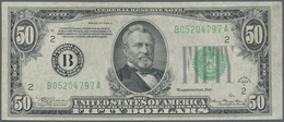 """United States Of America: 50 Dollars 1934 """"New York"""" P. 432 In Used Condition With Folds But Still C - United States Of America"""