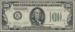 """United States Of America: 100 Dollars 1934 """"Richmond"""" P. 433 In Used Condition With Several Folds An - United States Of America"""