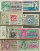 United States Of America: Set Of 10 Different Banknotes Military Payment Certificates Containing 1 D - United States Of America