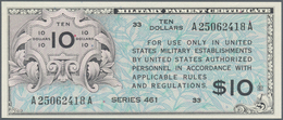 United States Of America: 10 Dollars MPC Series 461 ND(1946-47), P.M7 In UNC Condition - United States Of America