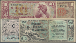 United States Of America: Set Of 4 Notes Containing 10 Dollars Series 461 P. M7 (F+ To VF-), 10 Doll - United States Of America