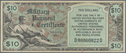 United States Of America: 10 Dollars MPC Series 481 ND(1951-54), P.M28, Lightly Toned Paper With A F - United States Of America