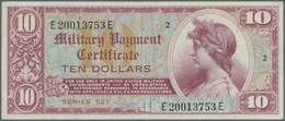 United States Of America: 10 Dollars MPC Series 521 ND(1954-58), P.M35, Vertically Folded And Staine - United States Of America