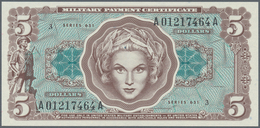 United States Of America: 5 Dollars MPC Series 651 ND(1969), P.M73 In Perfect UNC Condition - United States Of America