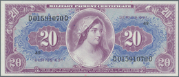 United States Of America: Rare Set Of 2 CONSECUTIVE Unissued Military Payment Certificate 20 Dollars - United States Of America