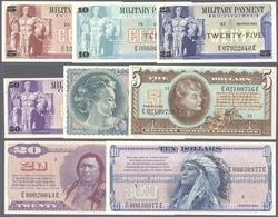 United States Of America: Complete Set Of 8 Notes Military Payment Certificate (MPC) Series 692 Cont - United States Of America
