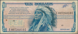 """United States Of America: 10 Dollars ND(1970) Military Payment Certificate """"Chief"""", Series 692, Used - United States Of America"""
