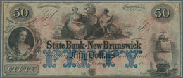 United States Of America: New Jersey, State Bank At New Brunswick 50 Dollars 18xx Remainder Without - United States Of America