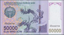 Uzbekistan / Usbekistan: Huge Set With 27 Banknotes Series 1992 - 2017 Containing This Items: P.61a, - Uzbekistan