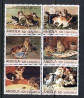Angola 2000 Cat Paintings Blk6 (rebel Issue) CTO - Angola