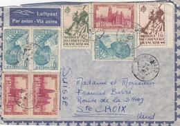LETTRE COTE D'IVOIRE. 22 MAI 46. MAN POUR Ste CROIX EN SUISSE  / 7146 - Côte-d'Ivoire (1892-1944)